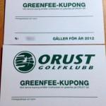 Greenfeekuponger till Orust golfklubb säljes