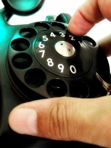 gammal telefon snurrskiva