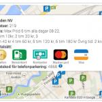 Hitta pris på parkering i Göteborg, Heden m.fl. platser