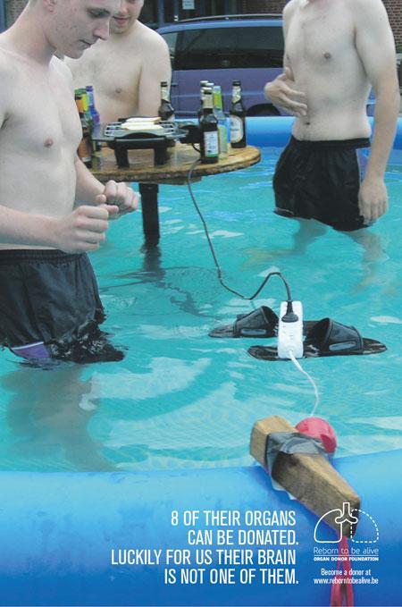 organdonation reklam el pool