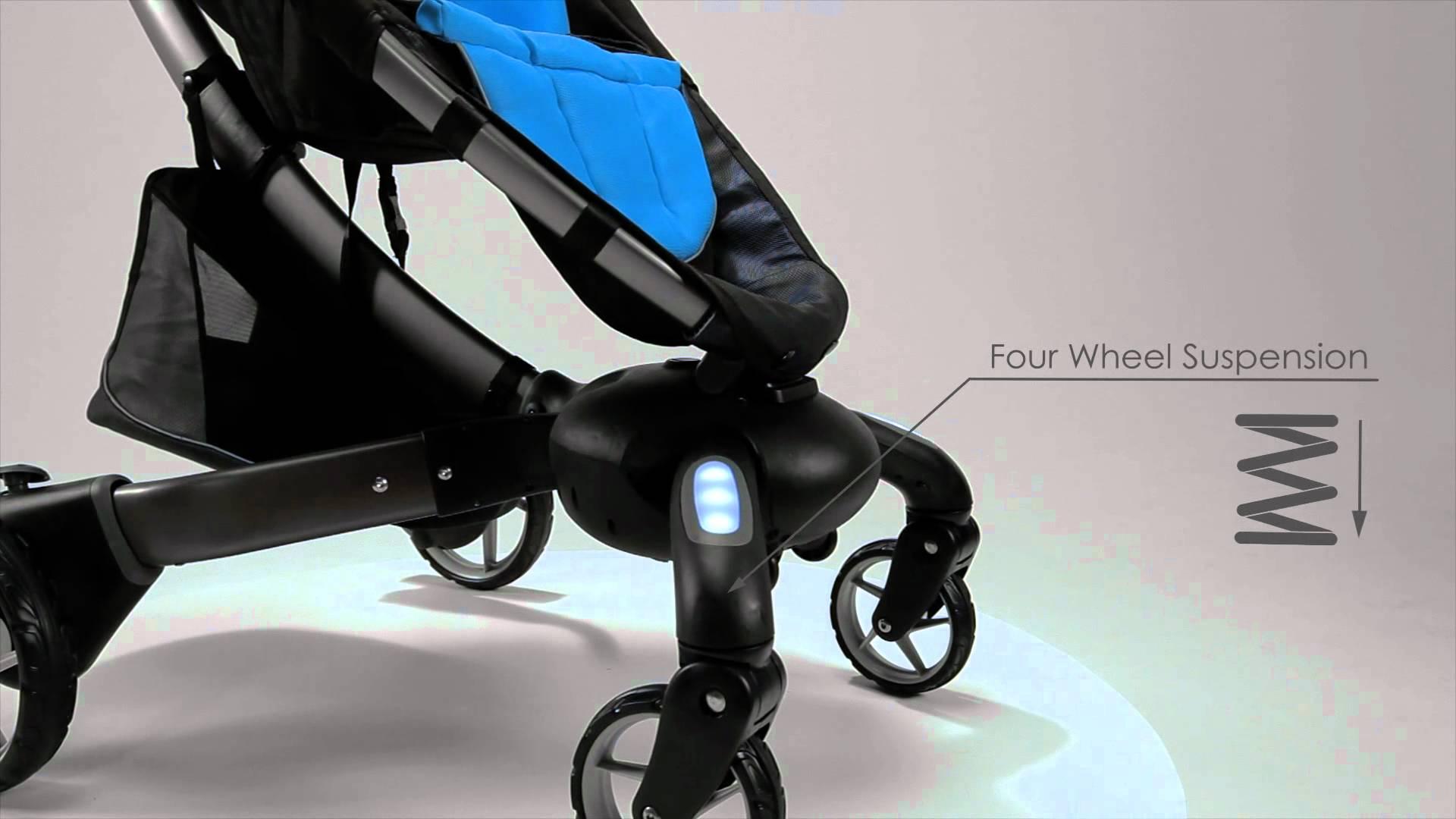 Barnvagn som fäller ihop sig själv