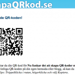 Skapa QR-kod med text, nu funkar det igen!